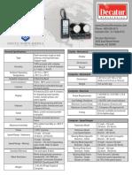 Genesis II Radar Spec - DeC_G2S_TechSpecs