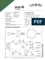 Renaissance 80 Technical Sheet