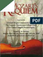 Mozart's Requiem Program