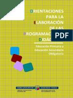 Orientaciones Programaciones Didacticas EP y ESO