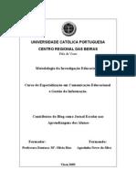 PROJECTO DE INVESTIGAÇÃO S/ BLOGS