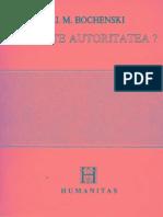 J. M. Bochenski-Ce Este Autoritatea-Humanitas (1992)