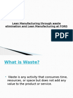 Lean Manufacturing Through Waste Elimination