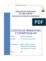 Costos de Marketing y estrategia de Precios