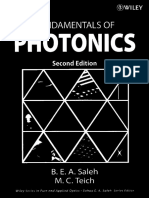 Fundamentals of Photonics 2nd Ed - B. Saleh, M. Teich (Wiley, 2007) WW