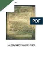 Las Tablas Esmeralda de Thoth