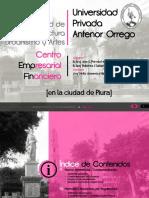 FAUA UPAO Tesis Centro Empresarial Financiero en La Ciudad de Piura