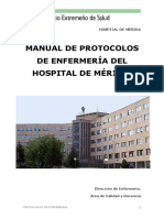 Manual de Protocolos Del Hospital de Merida