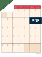 Calendario Marco 2016 Cherry