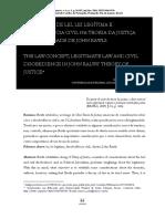 O Conceito de Lei, Lei Legítima e Desobediência Civil na