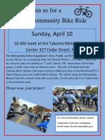 MPD Community Bike Ride 4-10-16