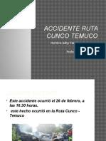 Accidente Ruta Cunco Temuco