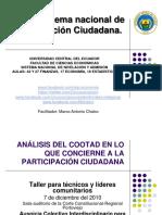 El Sistema Nacional de Participacion Ciudadana.