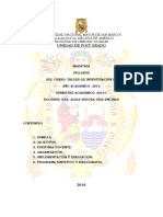 Taller de Investigacion III -Dra Alida Diaz