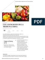 Las 5 Estaciones de La Medicina China - Barcelona Alternativa