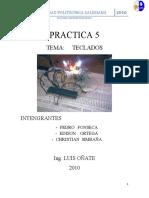 Informe practica 5 Teclados