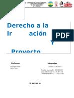 Derecho a La Informacion y Proyecto Democratico