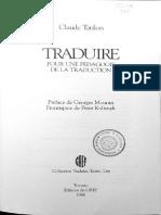 Tatilon Claude, TRADUIRE.
