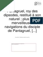 Rabelais, François. Pantagruel (1542).
