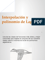 Interpolacion de Lagrange