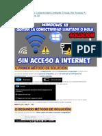 Como Quitar La Conectividad Limitada O Nula Sin Acceso a Internet