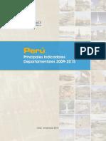 Principales Indicadores Departamentales 2009-2015
