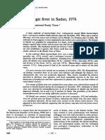 Report of WHO on SUDAN Ebola Victim