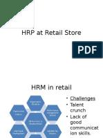 HRP at Retail Store