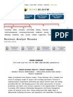 Business Analyst Resume