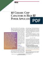 RF Ceramic Chip Capacitors in High RF Power Applications