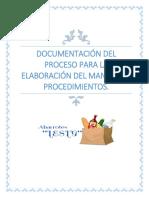 DOCUMENTACIÓN DEL PROCESO...