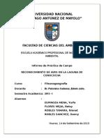 IDENTIFICACION DE AVES EN CONOCOCHA