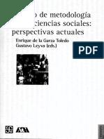 Tratado de Metodología de Las Ciencias Sociales, Perspectivas Actuales