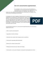 Barreras y Fallas en La Comunicación Organizacional
