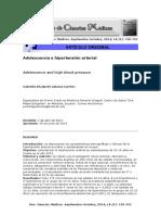 Adolescencia e Hipertensión Arterial