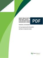 Sweet Briar Institute Financial Statements 6-30-13