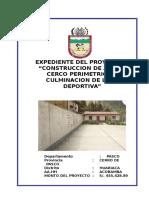 Memoria Descriptiva y Especificaciones Tecnicasde Jose Olaya