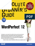 Absolute Begginer's Guide to WordPerfect 12