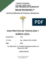 Guia de Practica Toxicología 2016