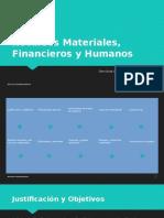 Recursos Materiales, Financieros y Humanos