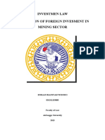 Investmen Law Foreign Investment
