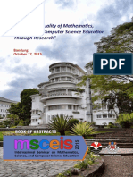 Book of Abstract MSCEIS 2015