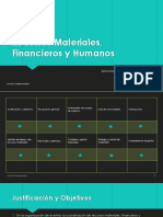 Recursos Materiales Financieros y Humanos