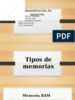 Administracion de Memoria SO