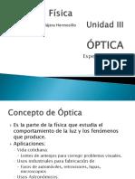 1 OPTICA - ESPEJOS