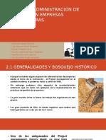 Administración de Proyectos en Empresas Constructoras