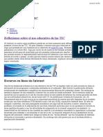 Reflexiones sobre el uso educativo de las TIC | canalTIC.com