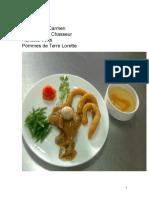 Recipes continental with menu