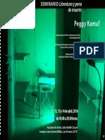 Peggy Kamuf Seminario Pena de Muerte Chile