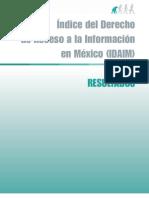 indice derecho acceso a la informacion